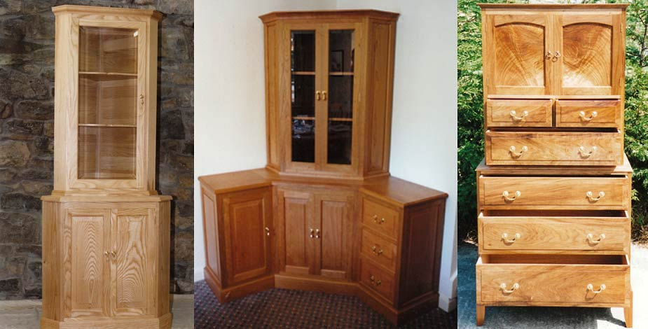 Coxwold cabinet makers of fine handmade custom built for Tall corner kitchen unit